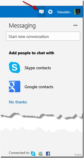 Configurando Chat en Outlook.com 1