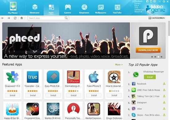Descargar Mobogenie gratis para manejar teléfono o tablet Android en la PC