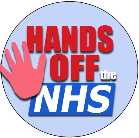 hands off the NHS 38mm