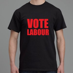 Vote Labour shirt black