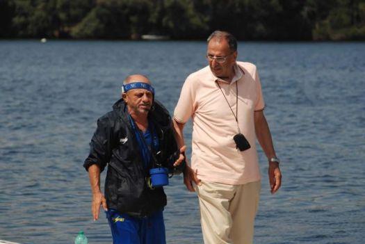 Peppiniello Di Capua e Giuseppe La Mura in una foto recente - Crediti: Federazione Italiana Canottaggio