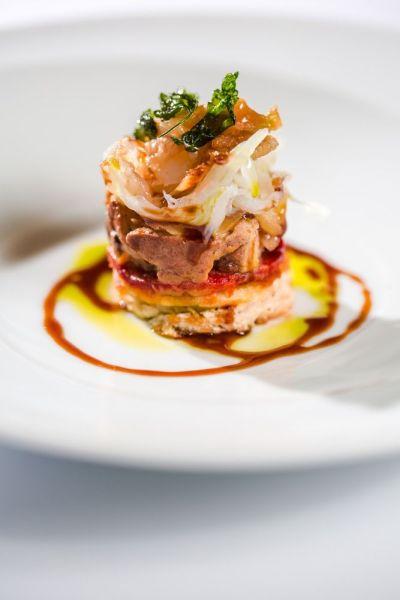 Tosta de bacalao ahumado con foie y pimiento de piquillo y vinagreta de soja y Módena, el pintxo campeón 2013