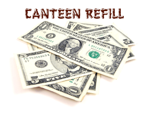 CANTEEN REFILL