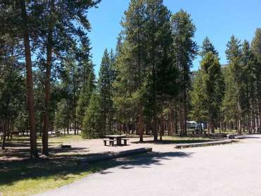 Madison Campground In Yellowstone National Park Wyoming Wy
