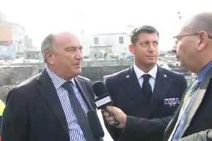 L'ass. Franco Cammino ed il comandante Andrea Pellegrino