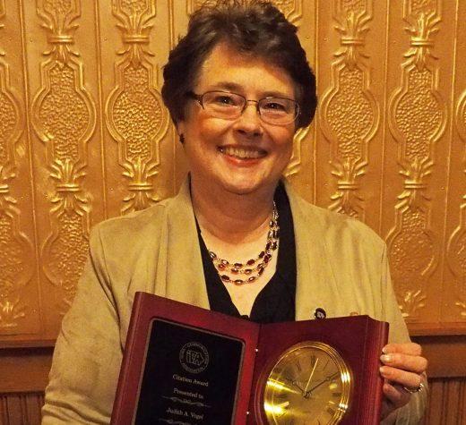 Speech Professor Judith Vogel retires