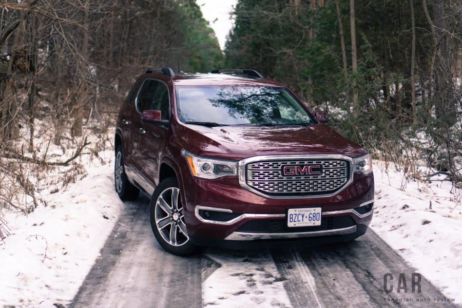 Review  2017 GMC Acadia Denali   Canadian Auto Review     2017 gmc acadia denali crimson red tintcoat