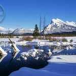 Mount Rundle's Winter wonderland.