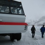 The Ice Explorer takes you right out onto the glacier.
