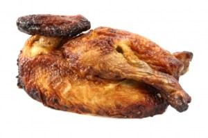 Daddy's piece of chicken