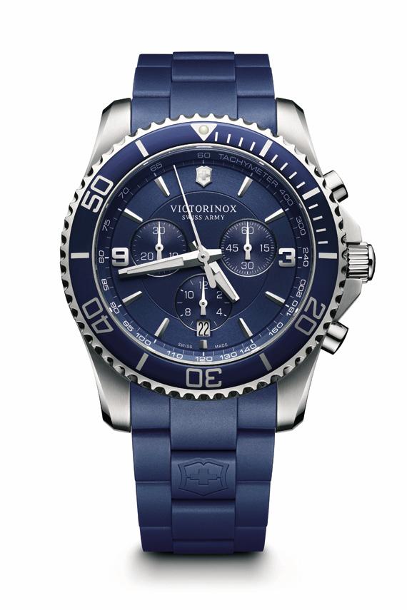 Victorinox-Maverick-Mostrador-azul-pulseira-de-borracha-azul
