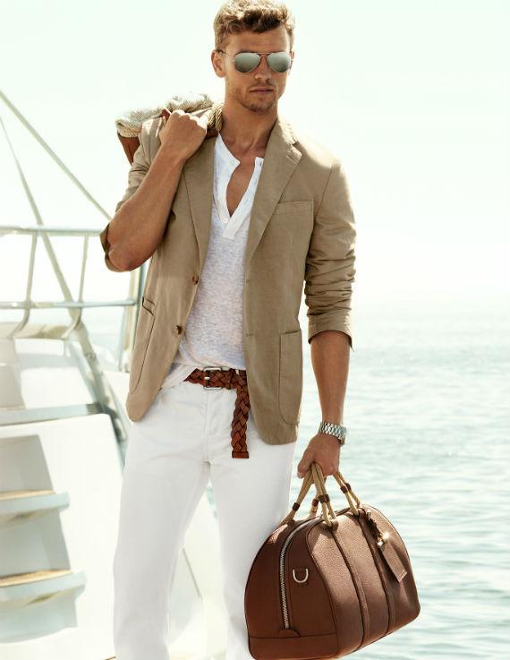 tecidos adequados para os homens no verão