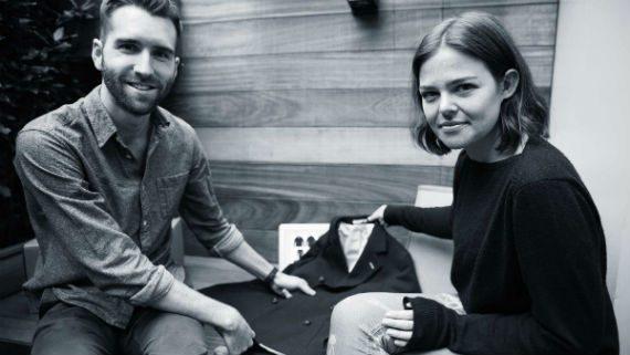 Kieran O'Neill, co-funador da Thread.com e Shaunie Brett, diretora de estilo da loja.
