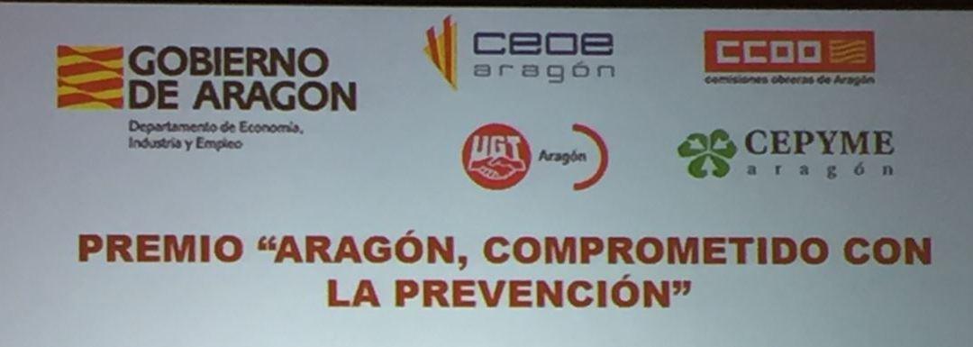 """Celebrado el Acto de entrega del VI Premio """"Aragón comprometido con la prevención"""""""