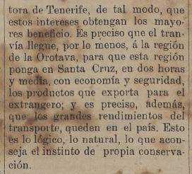 1901-05-31 Se habla del beneficio del tranvía para exporta productos