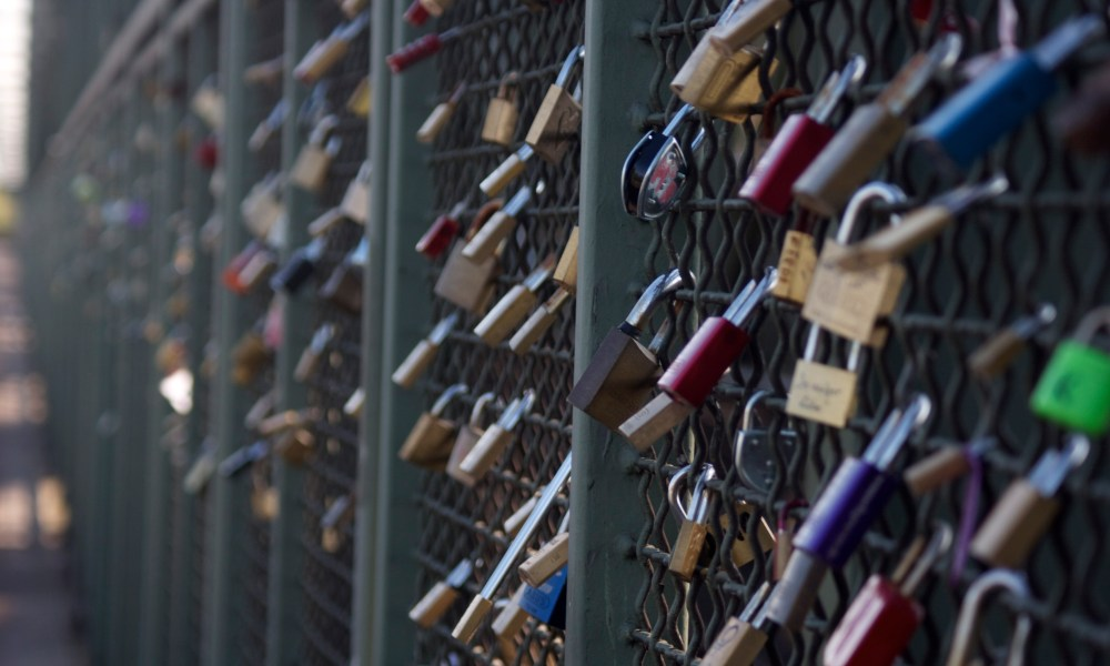 """gift me your heart"": love locks across the rhine."