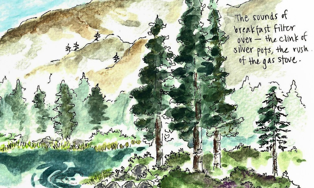 Travel sketch of the month: August edition.
