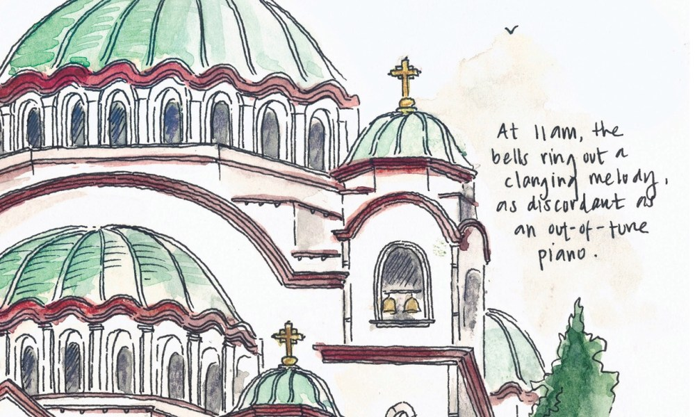 Sketching Serbia: Fifteen hours in Belgrade.