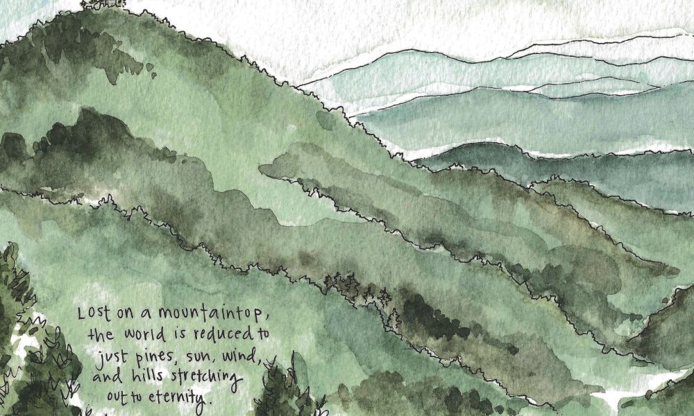 Travel sketch of the month: December edition.