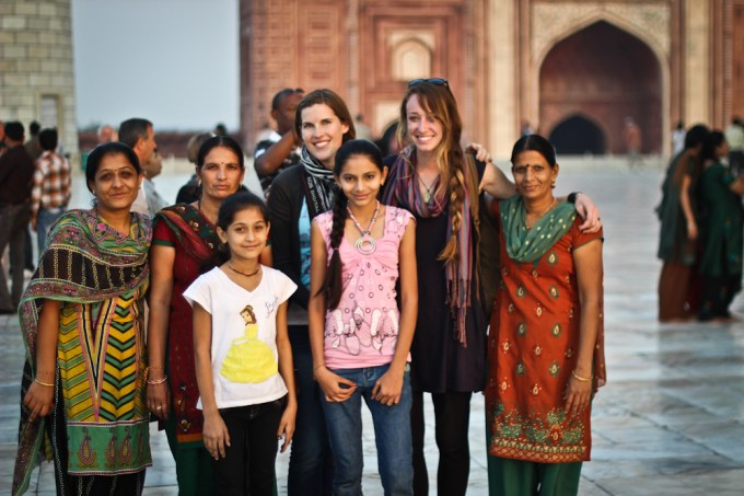 Families at the Taj Mahal