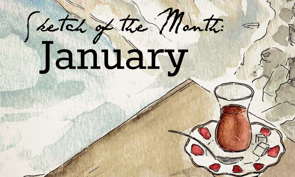 Travel sketch of the month: January edition.