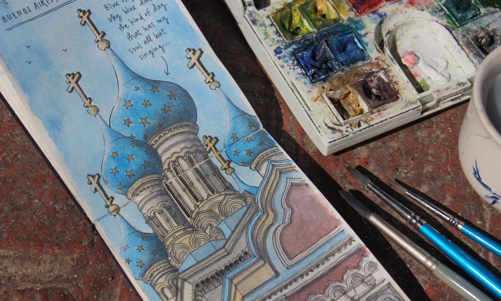 Sketching Argentina: In search of symbols in Buenos Aires.