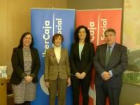 Candelita e Ibercaja firman un convenio de colaboración.