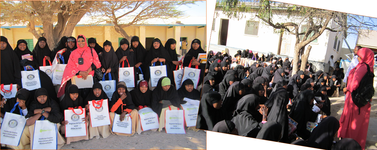 Design, print 450 bags and distributed to the students with Conducted 10 awareness raising sessions in the primary schools.