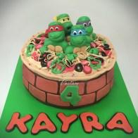 Ninja Turtle Cake Pizza Cake