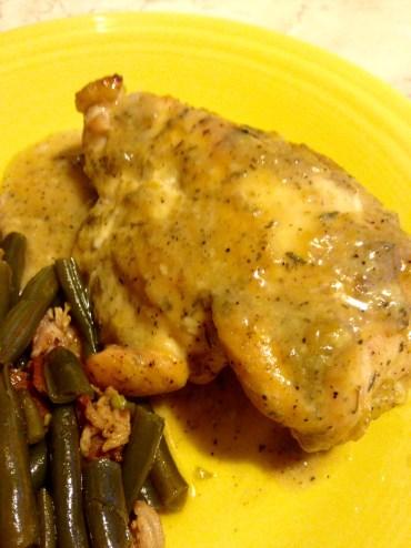 maple dijon chicken plated