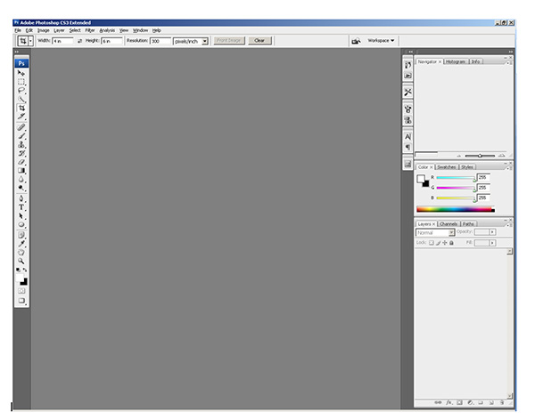Photoshop CS3 Default Workspace