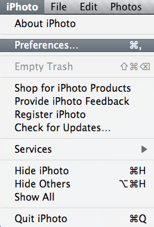 iPhoto Preferences Option