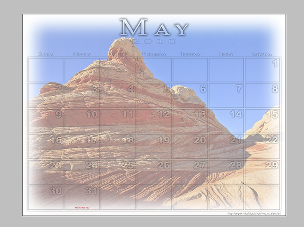 Step 09 - Save and distribute your new desktop calendar!