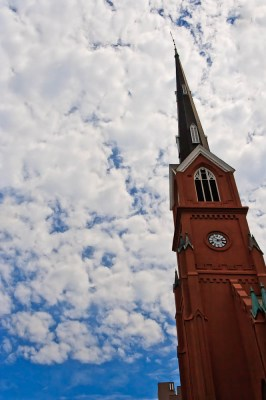 Church Steeple in the Clouds
