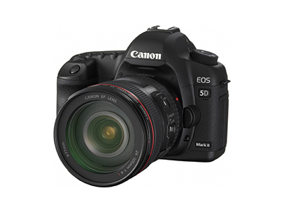 5D Mark II Angled View