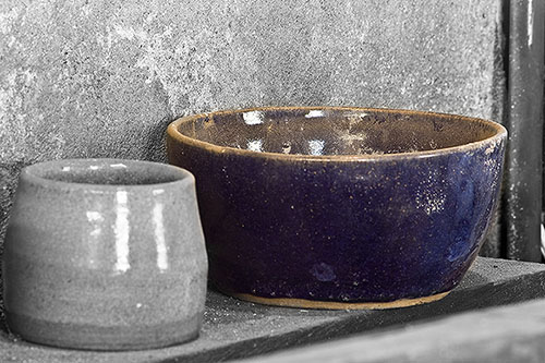 Selective Color applied to a Blue Bowl
