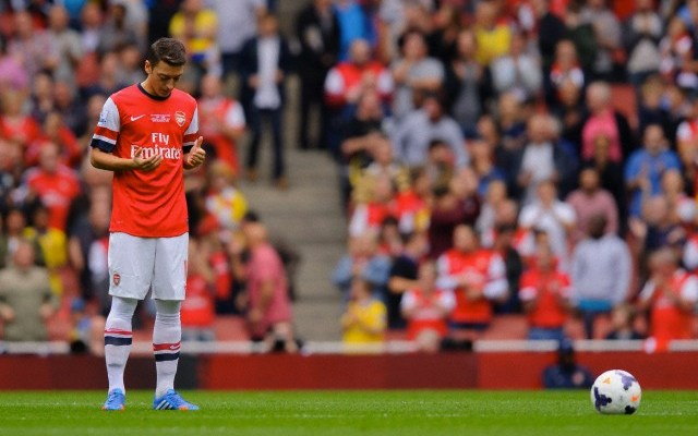 22 Sep 2013, London, England, UK --- Mesut Ozil of Arsenal prays before kick-off --- Image by © Joe Toth/BPI/Corbis