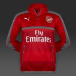 Arsenal Home Zip Training Top