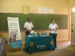 CANSA visited the Oefen Primary School in Worcester. Staff gave a talk on sun smart and CANSA Services to the educators of the school.