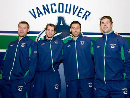 Ohlund, Kesler, Luongo and Mitchell