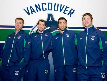 Ohlund, Kesler, Luongo and Mitchell