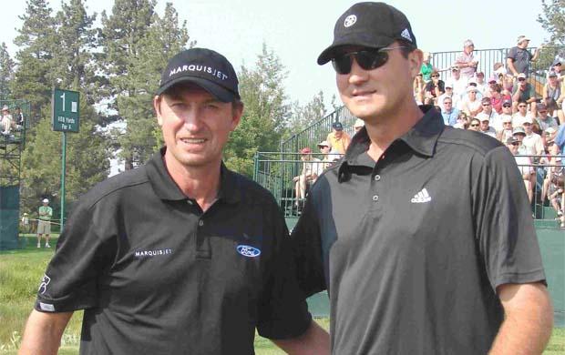 Wayne Gretzky and Mario Lemieux