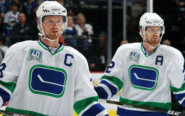 Canucks captain Henrik Sedin and Daniel Sedin, Vancouver Canucks