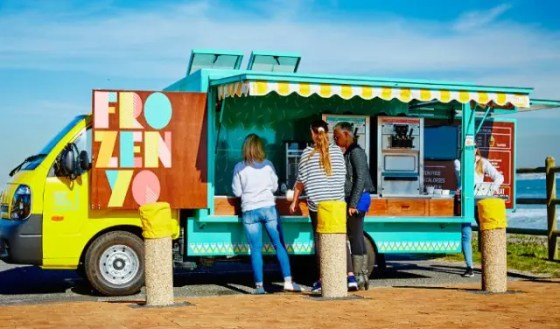 frozen yo food truck in cape town