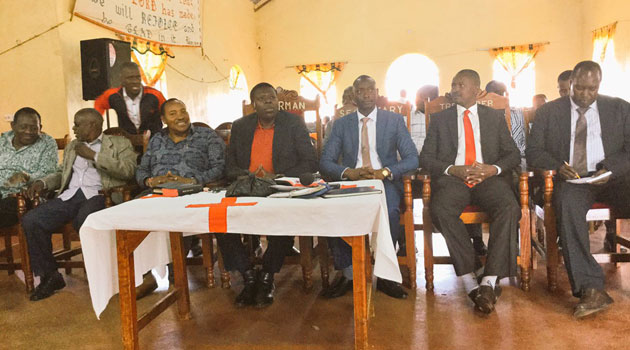The MPs gave the endorsement during a church service in Kiambu/COURTESY