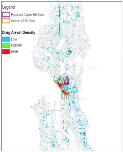 drug arrest density