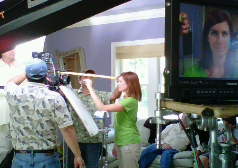 On set for JAWS Cleaning Product