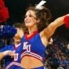 KU Jayhawks cheerleader