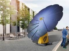 Smartflower Stromgewinnung E-Tankstelle