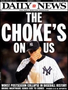 Although the entire team struggled, Arod bore the brunt of the Yankees 2004 collapse.
